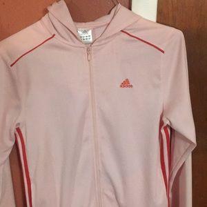 Pink vintage adidas jacket